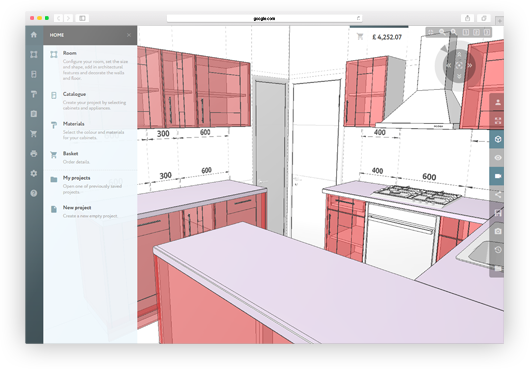 3d kitchen planner design a kitchen online free and easy for Bathroom planner 3d
