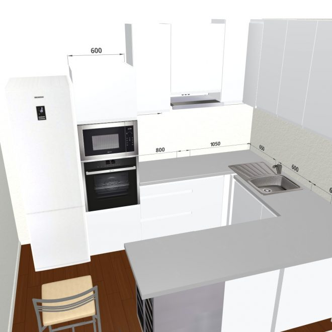 3d kitchen planner design a kitchen online free and easy for Planner cucina gratis