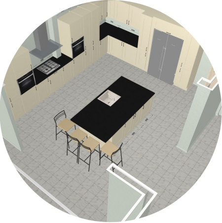 3D Kitchen Planner : Design a kitchen online - free and easy.