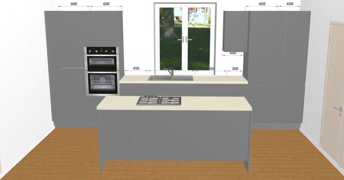 gloss anthracite handleless kitchen 3d kitchen planner